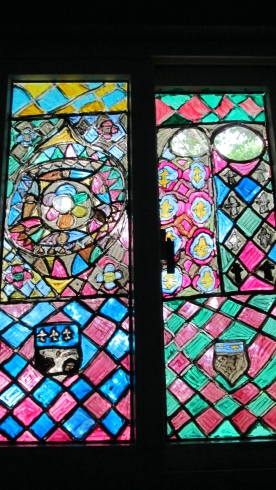 other shot of stained-glass at day