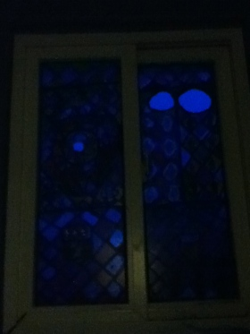 stained-glass at dark
