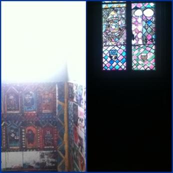 Scenes from my fresco hall bathroom