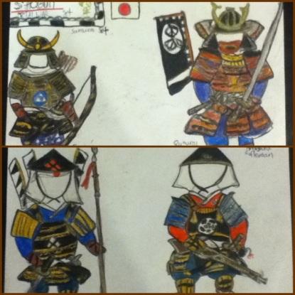 the Japan Samurai set
