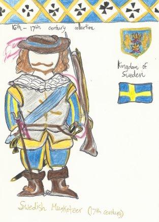 Sweden- elite Swedish cavalier musketeer