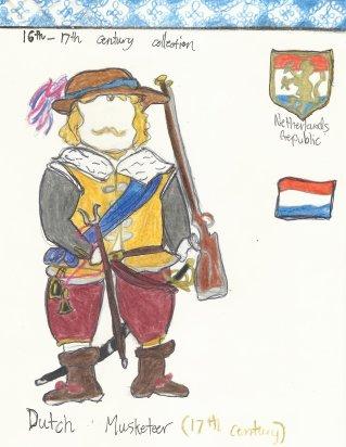 Netherlands- Dutch infantry musketeer