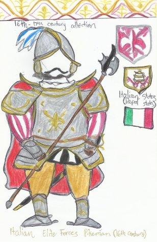Italy- Italian heavy-infantry soldier