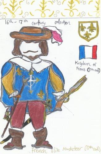 France2- French elite musketeer guardsman