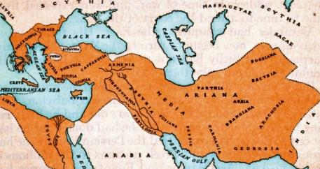 map of Alexander's Macedonian Empire