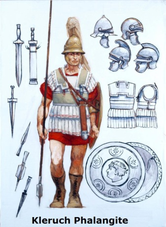 Macedonian hoplite with arms and armour