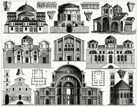 Byzantine architecture samples
