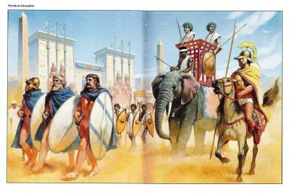Macedonians with combined armies