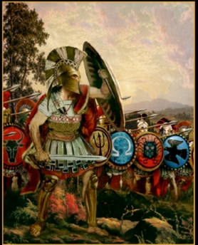 combination of Greek hoplites