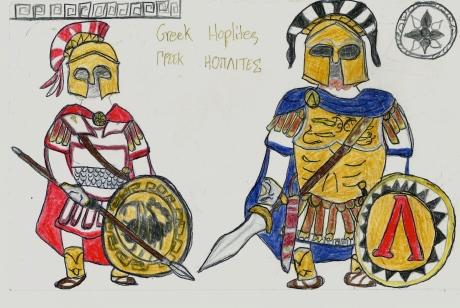 2 types of Greek hoplites