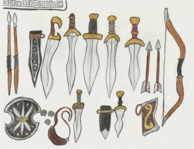 set of Greek weapons- part 1