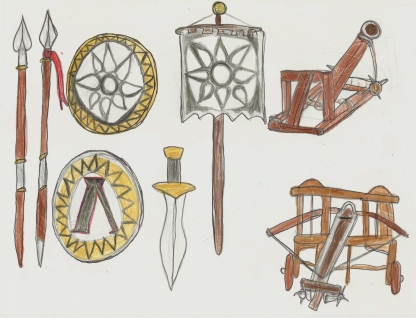 set of Greek weapons, part2