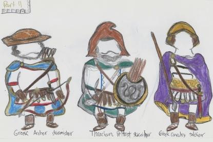 3 types of Greek infantry