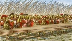 Greek hoplites in phalanx formation