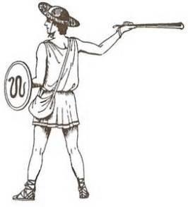 Greek slinger drawing