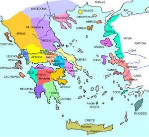map of Greek city-states