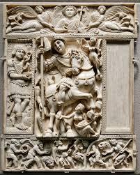 Byzantine carved diptych art