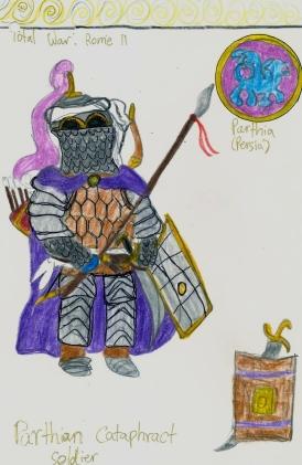 my sketch of Parthian cataphract cavalry