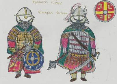 Byzantine Varangian guards drawing