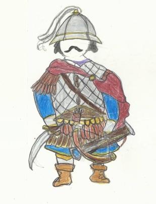 Byzantine Tzakones with a crossbow