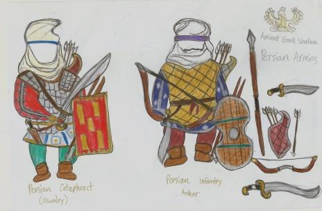 my sketch of Persian warriors