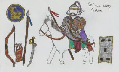 other sketch of Parthian cavalryman