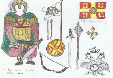my sketch of Byzantine army captain