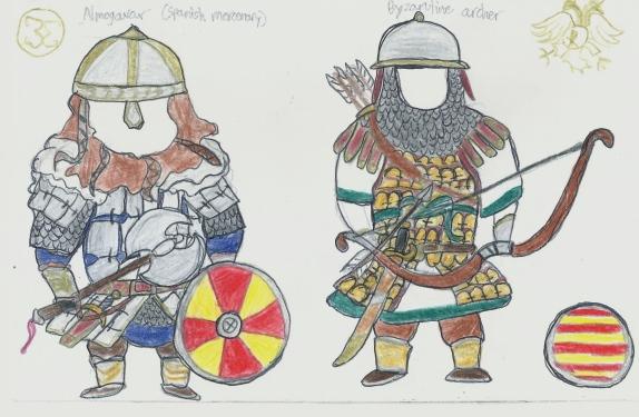 Byzantine units- Almogavar and archer