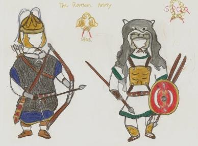 Roman archer auxilia and velites unit