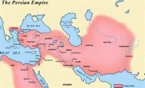 full extent of the Achaemenid Persian empire