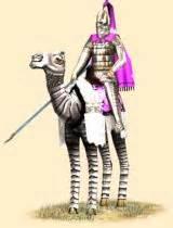 A Parthian camel cataphract