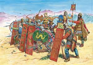 Persian Immortals in phalanx formation