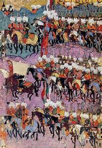 painting of the Ottoman cavalry troops