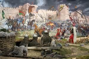 Ottomans siege Constantinople (1453)