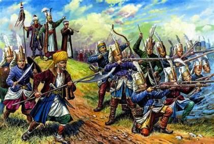 Janissaries in battle