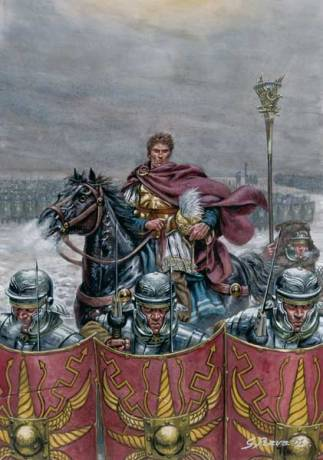 Germanicus leading his forces