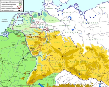 Map of the German campaign