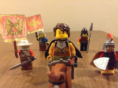 Germanicus and his army in Lego