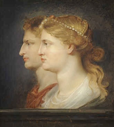 Portrait of Germanicus and wife Agrippina the Elder by Rubens