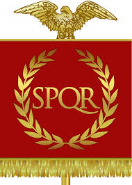 Flag and seal of the Roman Empire