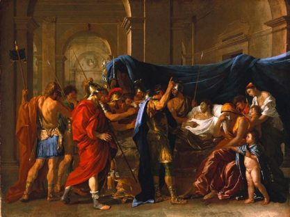 Death of Germanicus painting