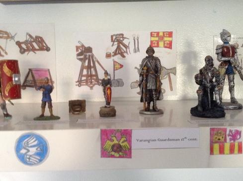 Frankish soldier, Byzantine Cataphract, Varagian Guardsman, Spanish Knight, English Knight