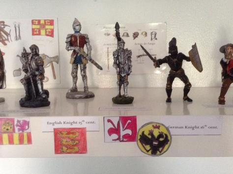 Spanish Knight, English Knight, Italian Knight, German Knight