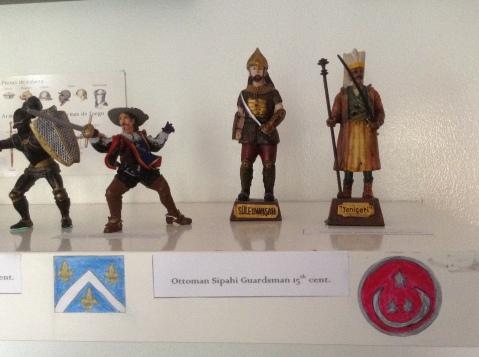 French Musketeer, Ottoman Guardsman, Ottoman Janissary