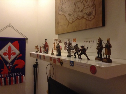 Full view of the Figures on the shelf