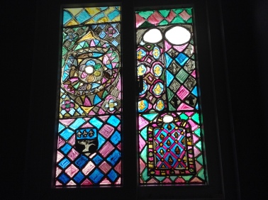 The whole window set with the new portion stained glass