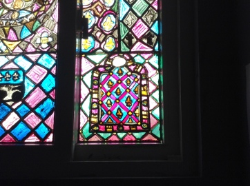 finished product of the new stained glass portion