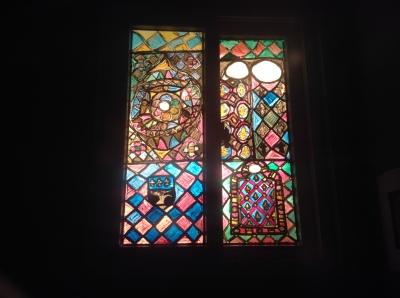 Full window in warm color