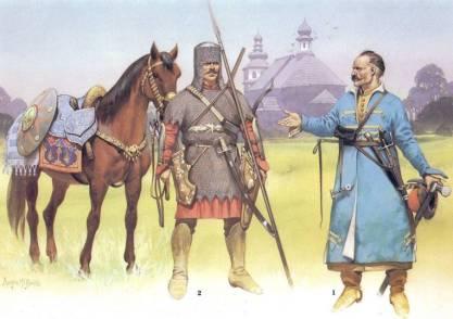 Russian Cossack warriors