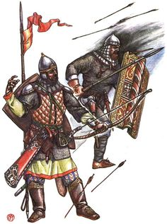 Byzantine-Russian units in battle
